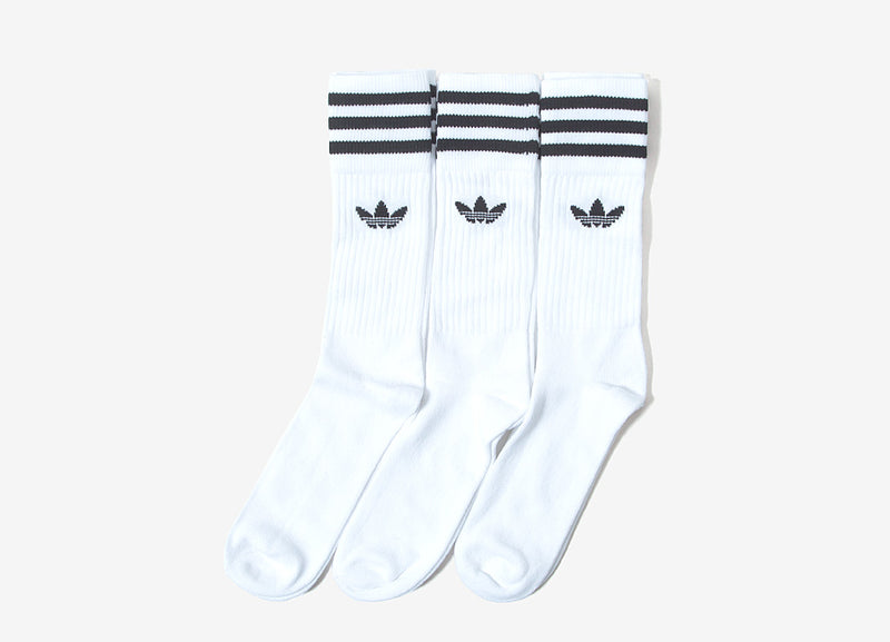 adidas Originals Crew Socks (3-Pack) - White/Black