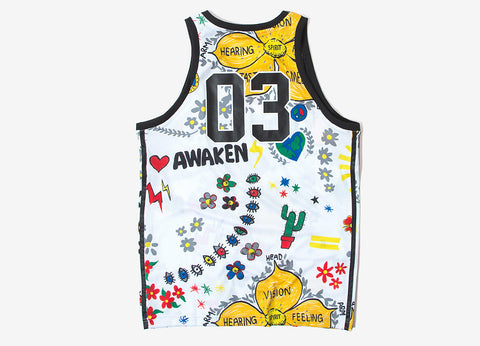 adidas Originals Pharrell Williams Doodle Tank - White