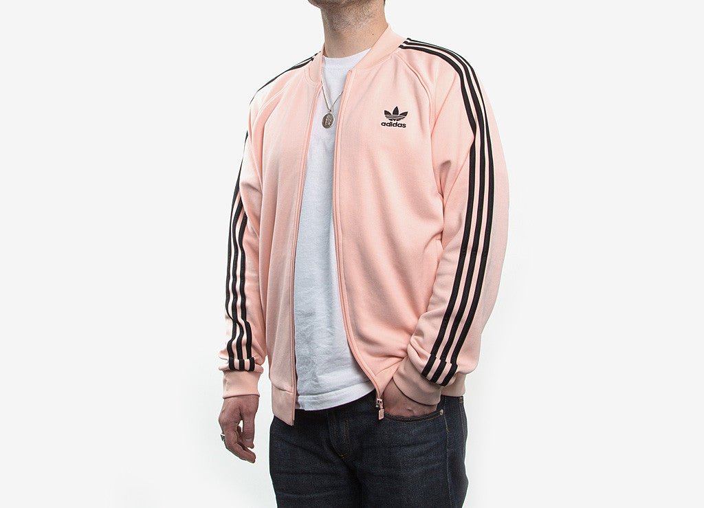 28a02a07f14a adidas Originals SST Track Jacket in Vapour Pink at The Chimp Store