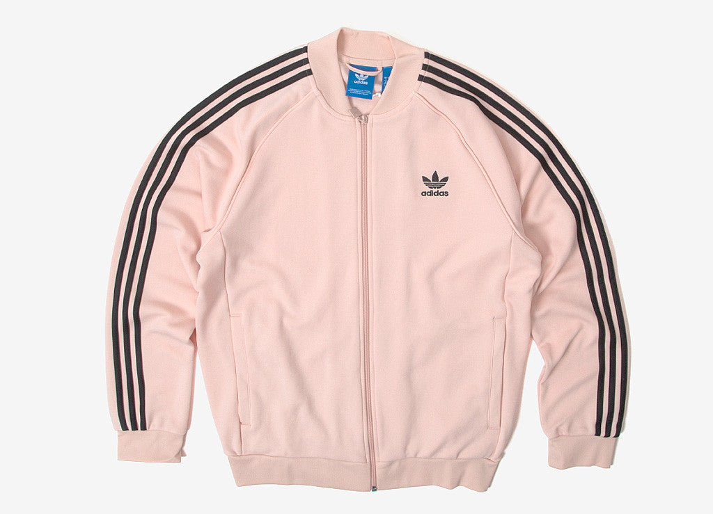 adidas Originals SST Track Jacket in Vapour Pink at The Chimp Store a2ff665102da