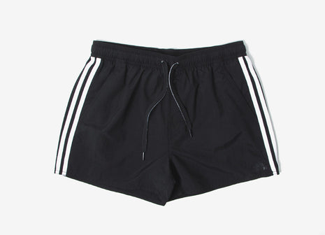 adidas Originals 3-Stripes Water Shorts - Black/White