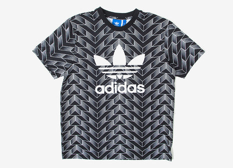 adidas Originals AOP Soccer Jersey T Shirt - Allover