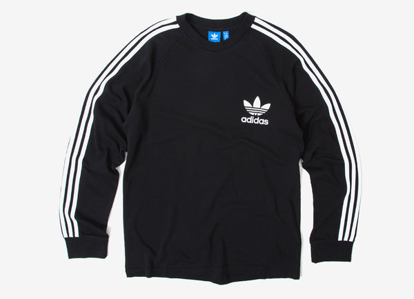 adidas Originals 3-Stripes Pique L S T Shirt in Black at Chimp  46b71af11e25