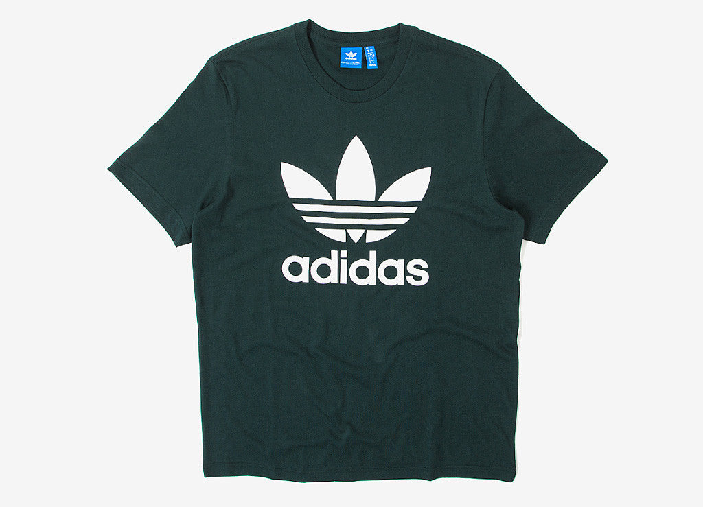 adidas Originals Trefoil T Shirt - Green Night