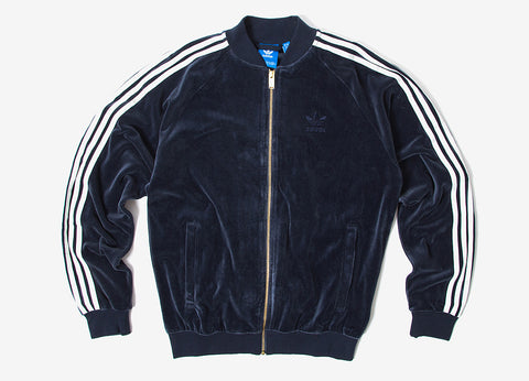 adidas Originals Velour Superstar Track Jacket - Legend Ink