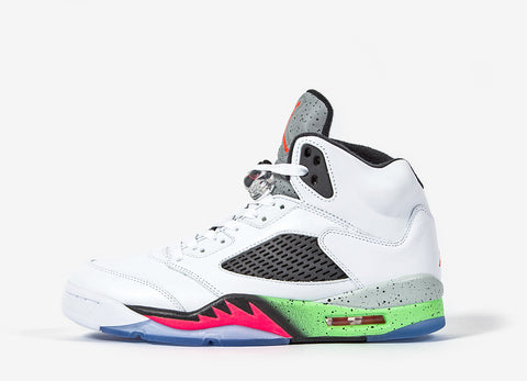 Nike Air Jordan V 'Poison Green' Shoes - Poison Green/Black