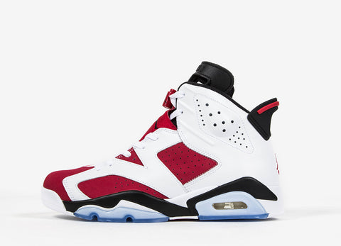 Nike Air Jordan VI Retro 'Carmine' Shoes - White/Carmine-Black