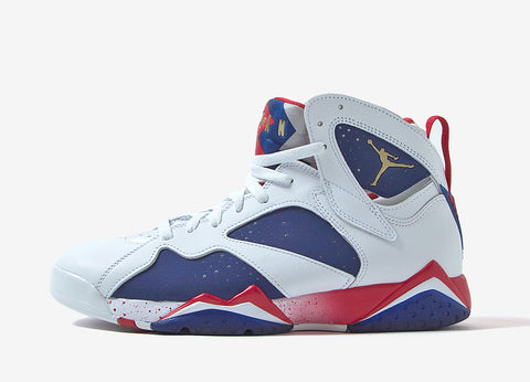 Air Jordan 7 Retro 'Alternate' Shoes - White/Deep Royal Blue/Fire Red/Metallic Gold Coin