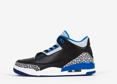 Air Jordan III 'Sport Blue' Shoes - Black/Sport Blue-Wolf Grey
