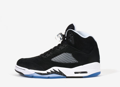 Air Jordan V Retro 'Oreo' Shoes - Black-Cool Grey