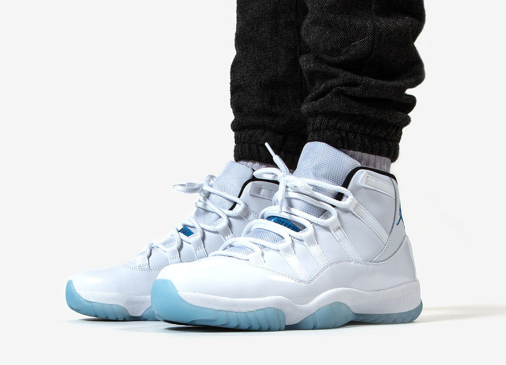 Nike Air Jordan XI Legend Blue Shoes - White-Legend Blue/Black