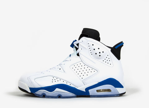 Nike Air Jordan VI 'Sport Blue' Shoes - White/Sport Blue-Black