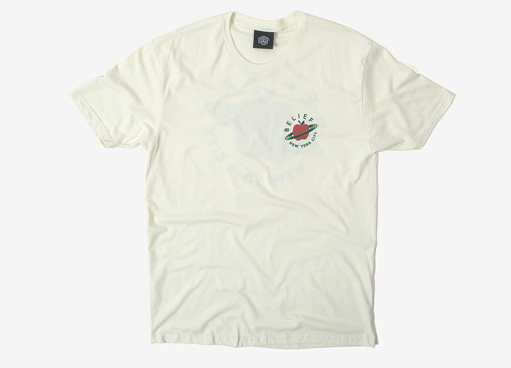 Belief City Space Pocket T Shirt - Cream