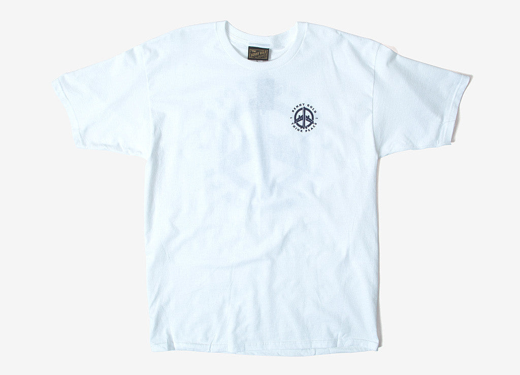 Benny Gold Think Peace Pocket T Shirt - White