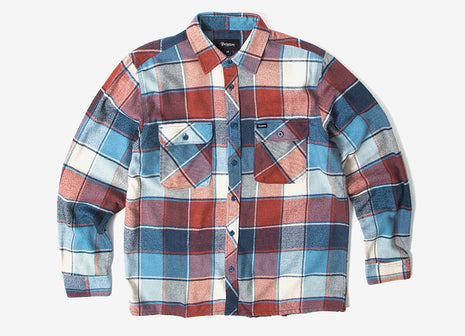 Brixton Archie Flannel Shirt - Light Blue Plaid