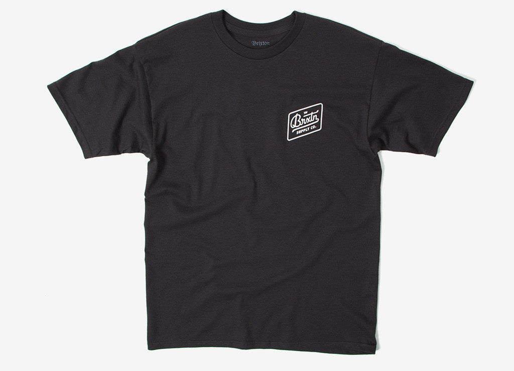 Brixton Bedford T Shirt - Washed Black