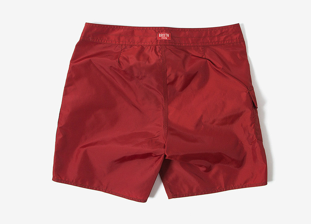 Brixton Bering Trunk Shorts - Burgundy