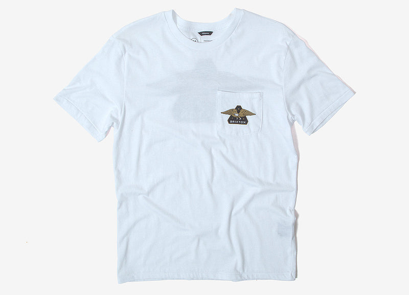 Brixton Turret Premium Pocket T Shirt - White