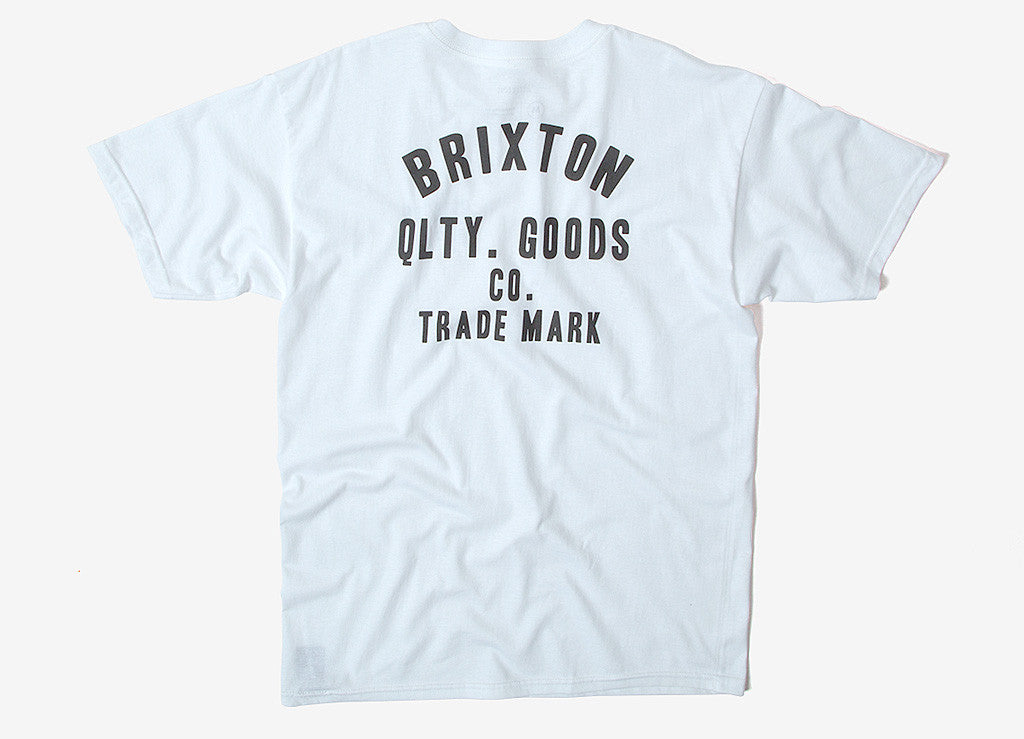Brixton Woodburn T Shirt - White