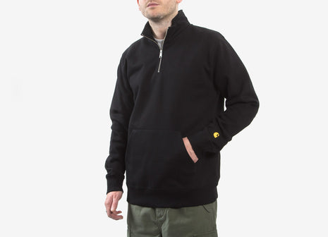 Carhartt Chase Neck Zip Sweatshirt - Black/Gold