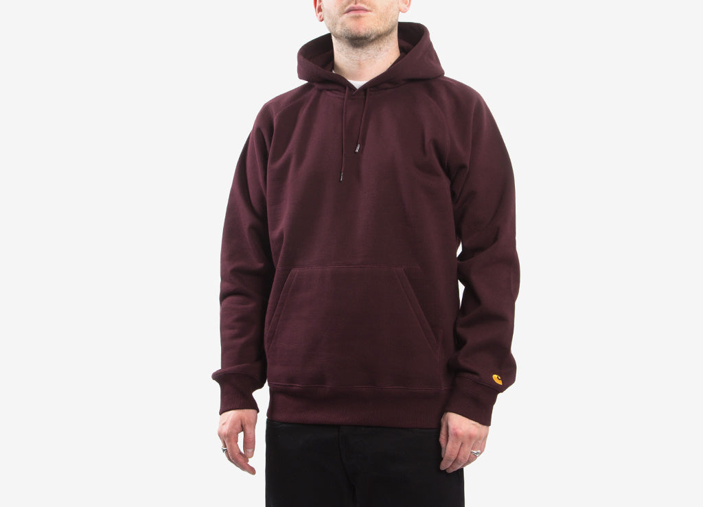 Carhartt Hooded Chase Sweatshirt - Damson/Gold