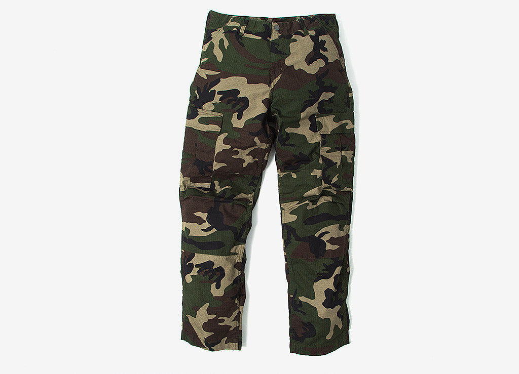 Carhartt Regular Cargo Pant - Camo Green Rinsed