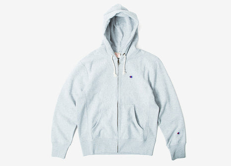 Champion Reverse Weave Full Zip Hoody - Heather Grey
