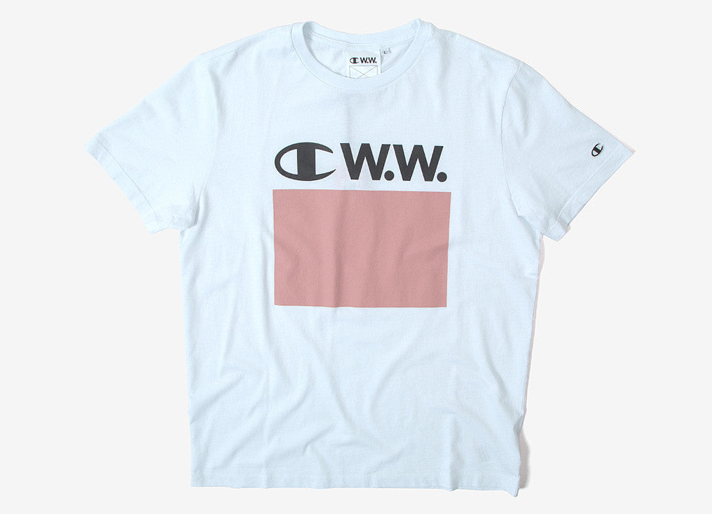 Champion x Wood Wood Alec T Shirt - Bright White