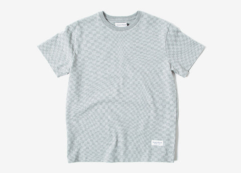 Raised By Wolves Warped Checkerboard T-Shirt - Heather Grey