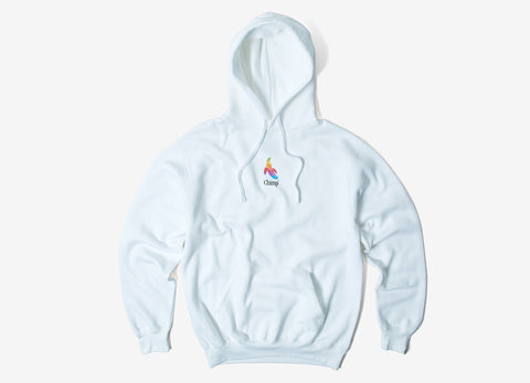 Chimp Throwback Pullover Hoody - White