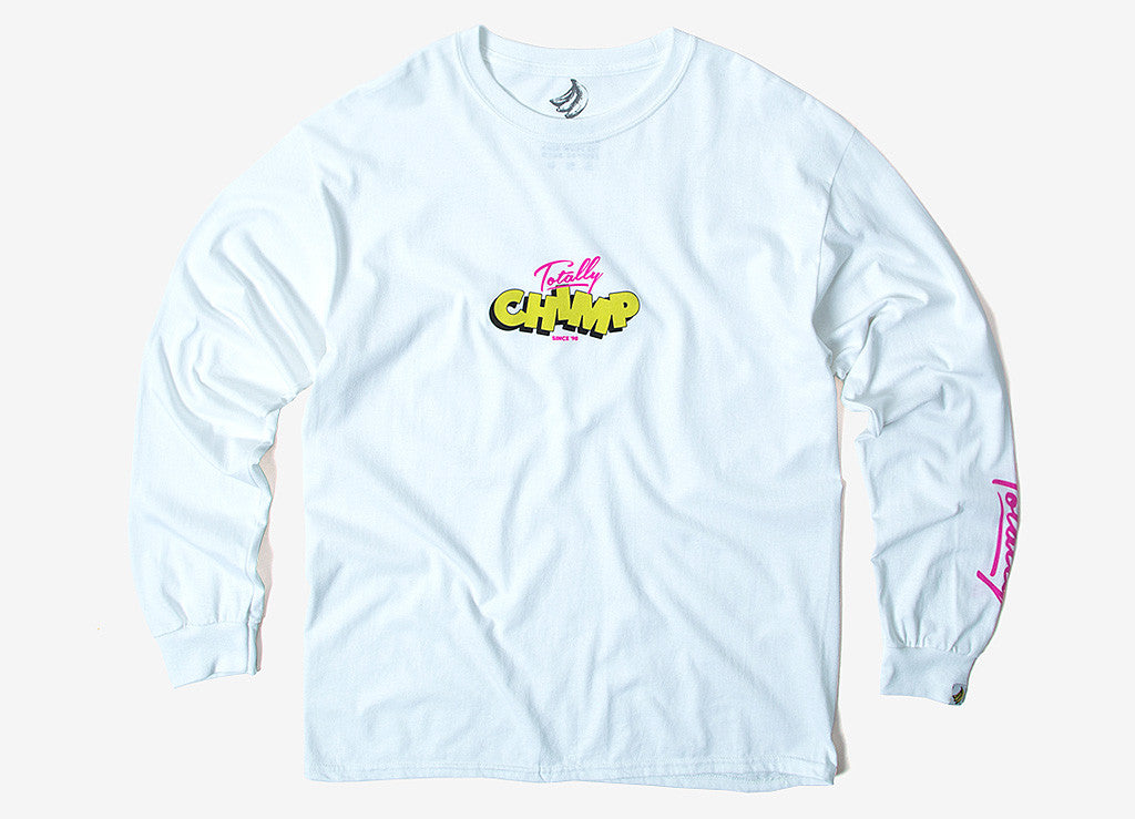 Chimp Totally Long Sleeve T Shirt - White