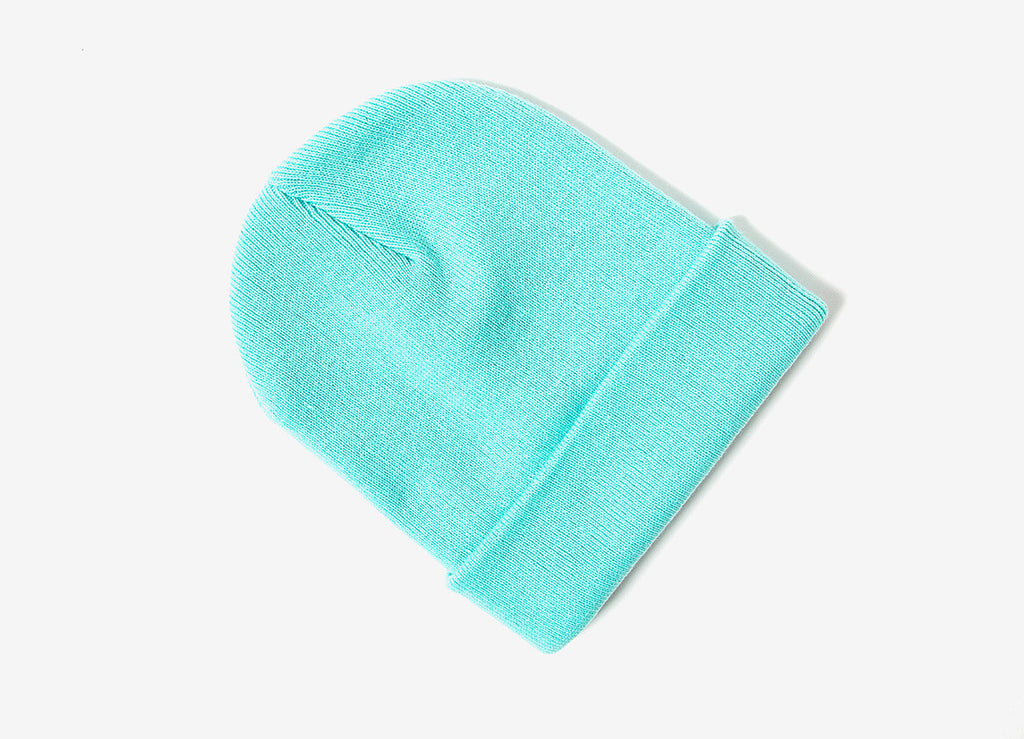 Chimp Embroidered Micro Script Beanie - Teal