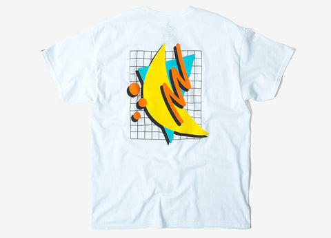 Chimp Abstract T Shirt - White