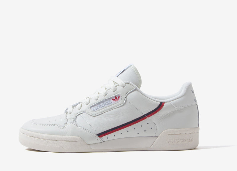 adidas Originals Continental 80 Shoes - Beige/Off White/Scarlet