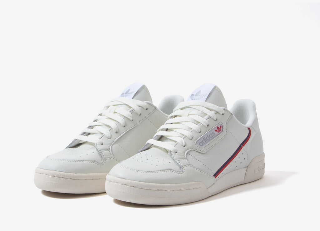buy online c552b 31f36 adidas Originals Continental 80 Shoes - Beige Off White Scarlet