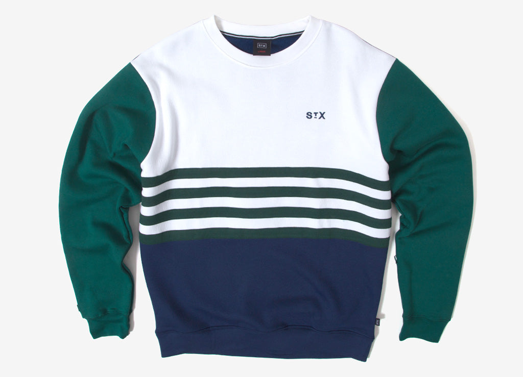 StreetX Panel Crewneck Sweatshirt - Forest