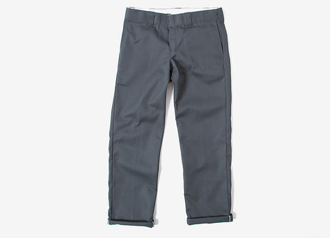 Dickies 873 Slim/Straight Work Trousers - Charcoal Grey