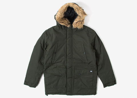 Dickies Curtis Parka Jacket - Olive Green