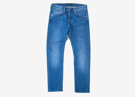 Edwin ED-55 Regular Tapered CS Power Blue Denim Jeans - Blue Pacific Wash