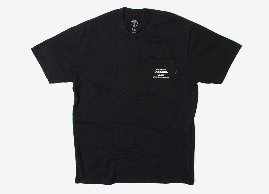 Good Worth & Co Underpaid Pocket T Shirt - Black