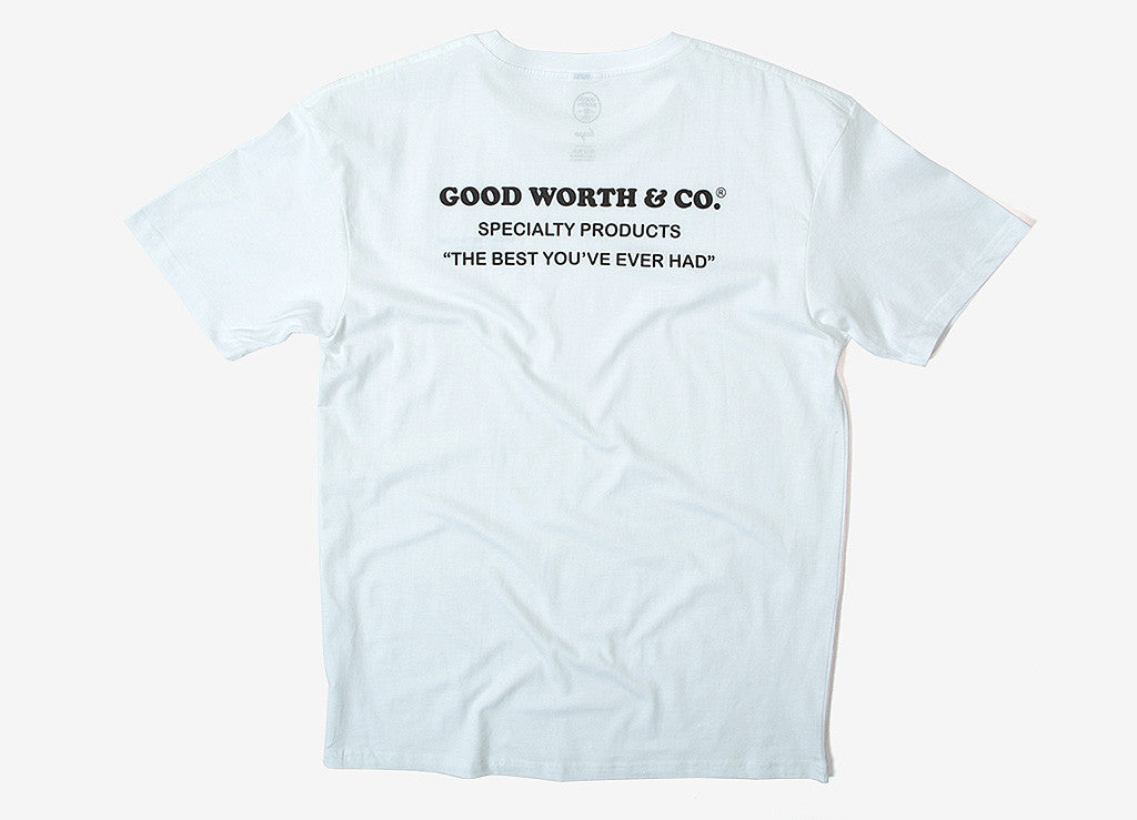 Good Worth & Co Stamp T Shirt - White