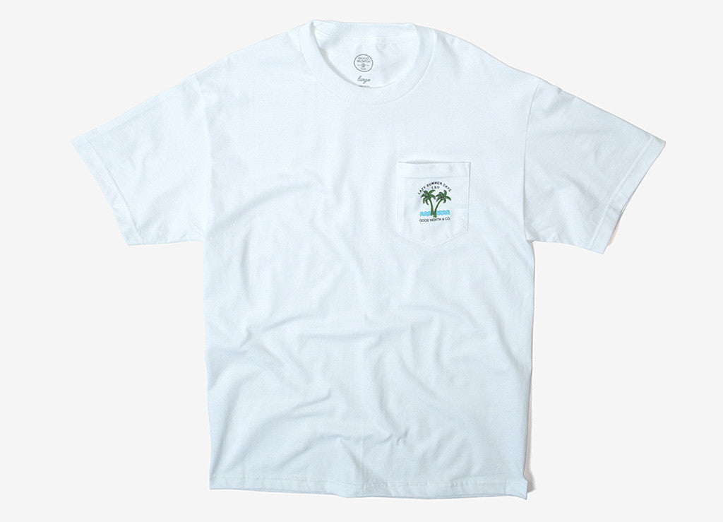 Good Worth & Co Lazy Days Pocket T Shirt - White