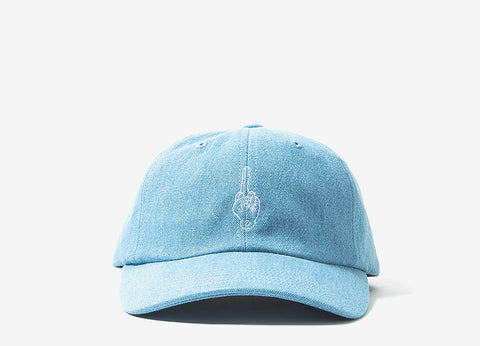 Good Worth & Co Best Wishes Key Strapback Cap - Denim