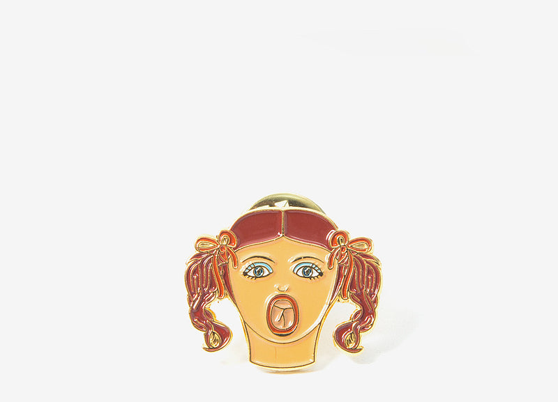 Good Worth & Co Blowup Doll Pin Badge - Allover