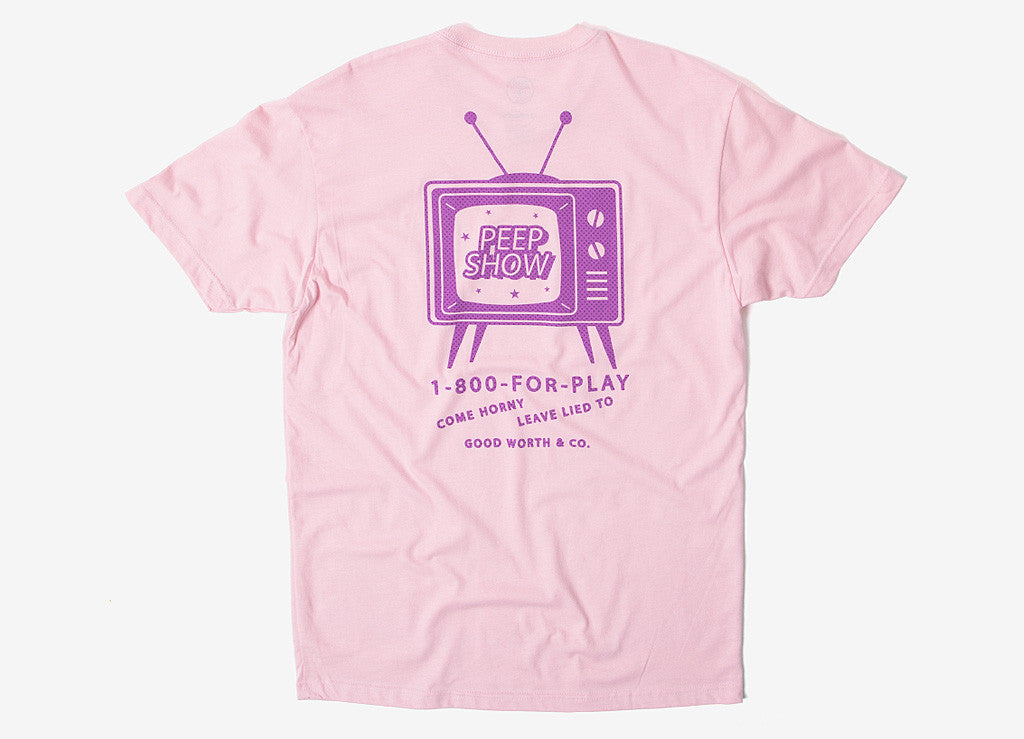Good Worth & Co Peep Show T Shirt - Pink