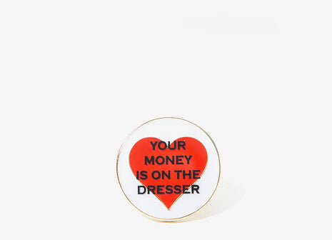 Good Worth & Co Your Money Pin Badge - Allover