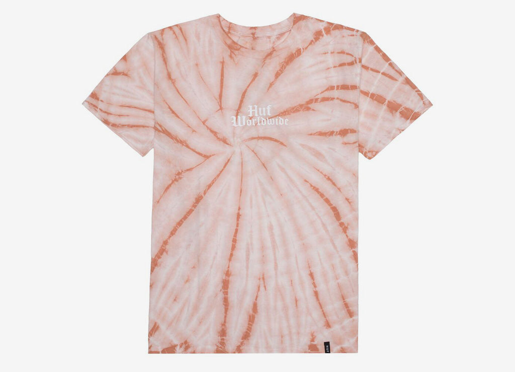 HUF Bar Bird Tie-Dye T Shirt - Coral Haze