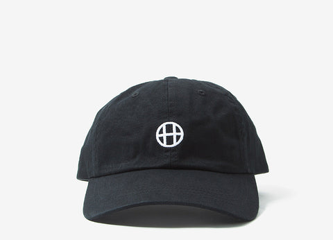 HUF Circle H Curve Visor 6 Panel Cap - Black