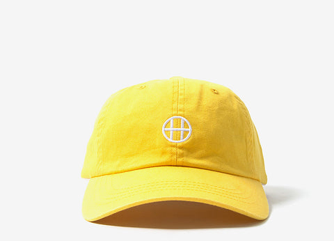 HUF Circle H Curve Visor 6 Panel Cap - Light Yellow