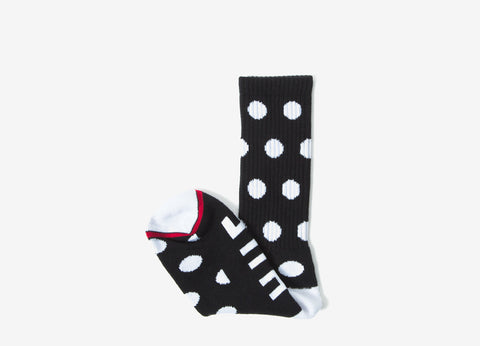 HUF Polka Socks - Black/White